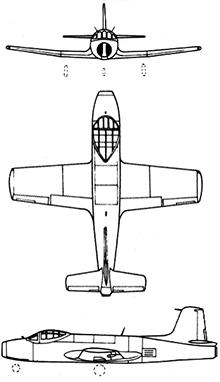 Plan 3 vues du Fokker S-14 Mach-Trainer