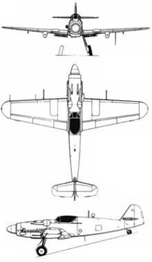 Plan 3 vues du Avia S.199