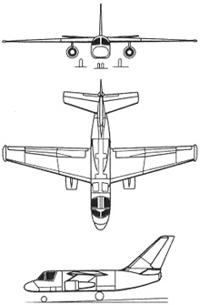 Plan 3 vues du Lockheed S-3 Viking
