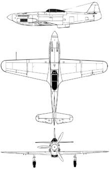 Plan 3 vues du Ikarus S-49