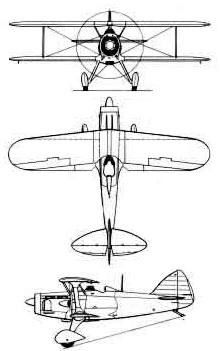 Plan 3 vues du Blériot-SPAD S.510