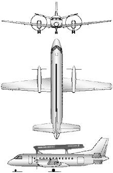 Plan 3 vues du Saab S-100 Argus