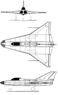 Plan 3 vues du Saab 210 Lilldraken