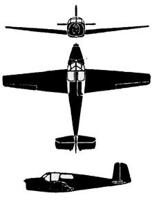Plan 3 vues du Saab 91 Safir