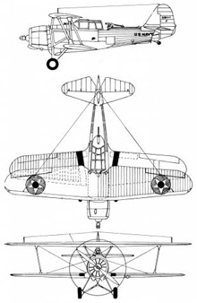 Plan 3 vues du Vought SBU Corsair