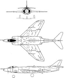 Plan 3 vues du Supermarine  Scimitar