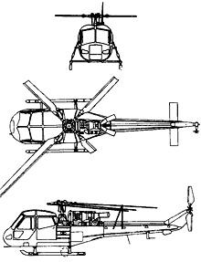 Plan 3 vues du Westland  Scout/Wasp