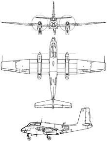 Plan 3 vues du SNCASE  SE.116/SE.117 Voltigeur