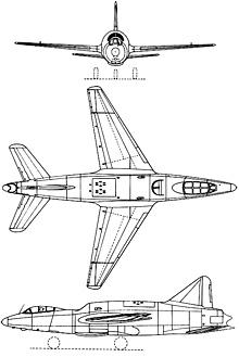 Plan 3 vues du Sud-Est SE.2410 Grognard