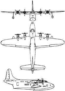 Plan 3 vues du Short S.45 Seaford