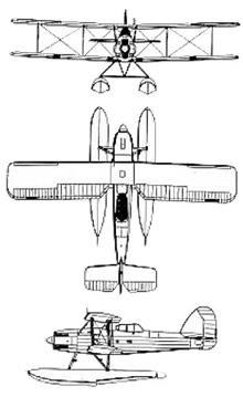 Plan 3 vues du Fairey  Seafox