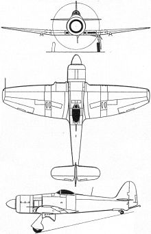 Plan 3 vues du Hawker  Sea Fury