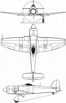 Plan 3 vues du Hawker  Sea Fury