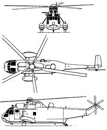 Plan 3 vues du Westland Sea King