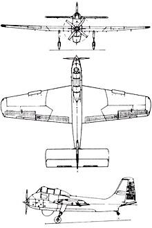 Plan 3 vues du Short SB.6 Seamew