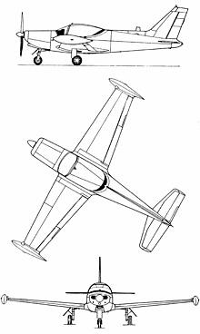 Plan 3 vues du SIAI-Marchetti SF-260