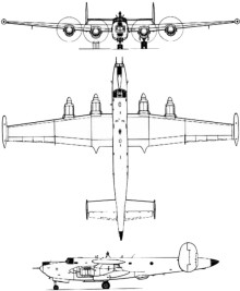 Plan 3 vues du Avro  Shackleton