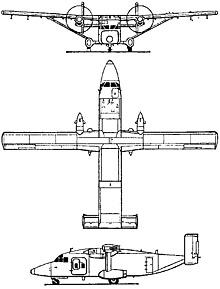 Plan 3 vues du Short C-23 Sherpa