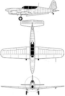 Plan 3 vues du SIPA S.10 / S.11 / S.12
