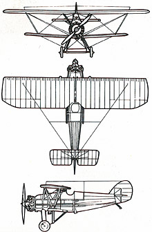 Plan 3 vues du Armstrong Whitworth  Siskin