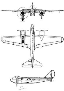 Plan 3 vues du Savoia-Marchetti SM.85