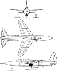 Plan 3 vues du Sud-Ouest SO.6020 Espadon