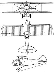 Plan 3 vues du Blériot-SPAD S.81
