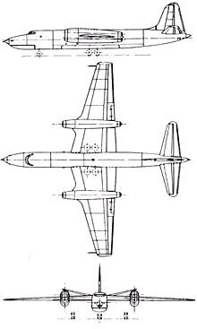 Plan 3 vues du Short SA.4 Sperrin