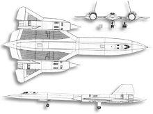 Plan 3 vues du Lockheed SR-71 Blackbird