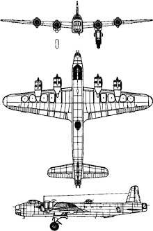 Plan 3 vues du Short S.29 Stirling