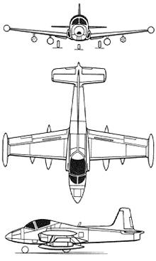 Plan 3 vues du BAC  Strikemaster