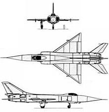 Plan 3 vues du Sukhoï Su-15  'Flagon'
