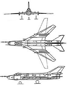 Plan 3 vues du Sukhoï Su-17/20/22  'Fitter'