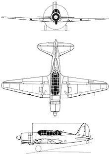 Plan 3 vues du Sukhoï Su-2