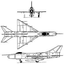 Plan 3 vues du Sukhoï Su-9  'Fishpot'