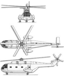 Plan 3 vues du Aérospatiale SA.321 Super Frelon