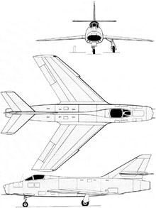 Plan 3 vues du Dassault  Super Mystère B.2