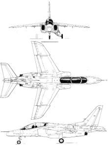 Plan 3 vues du Kawasaki T-4