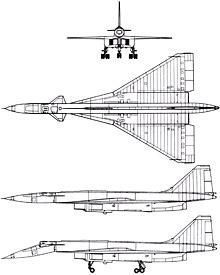 Plan 3 vues du Sukhoï T-4 Sotka