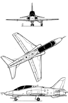 Plan 3 vues du McDonnell-Douglas T-45 Goshawk