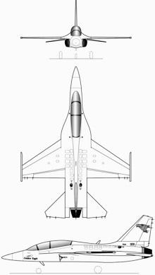 Plan 3 vues du KAI T-50 Golden Eagle