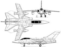 Plan 3 vues du Panavia  Tornado IDS