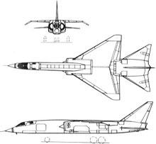 Plan 3 vues du BAC TSR.2