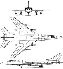 Plan 3 vues du Tupolev Tu-28/Tu-128  'Fiddler'