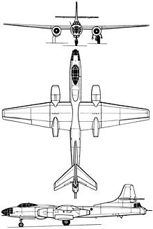 Plan 3 vues du Tupolev Tu-14/Tu-73  'Bosun'