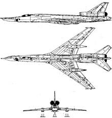 Plan 3 vues du Tupolev Tu-22  'Blinder'