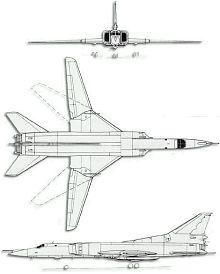 Plan 3 vues du Tupolev Tu-26  'Backfire'