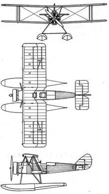 Plan 3 vues du Avro Tutor & Sea Tutor