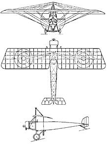 Plan 3 vues du Morane-Saulnier Type-L