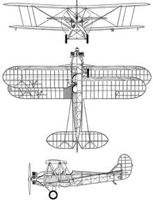Plan 3 vues du Polikarpov U-2 / Po-2